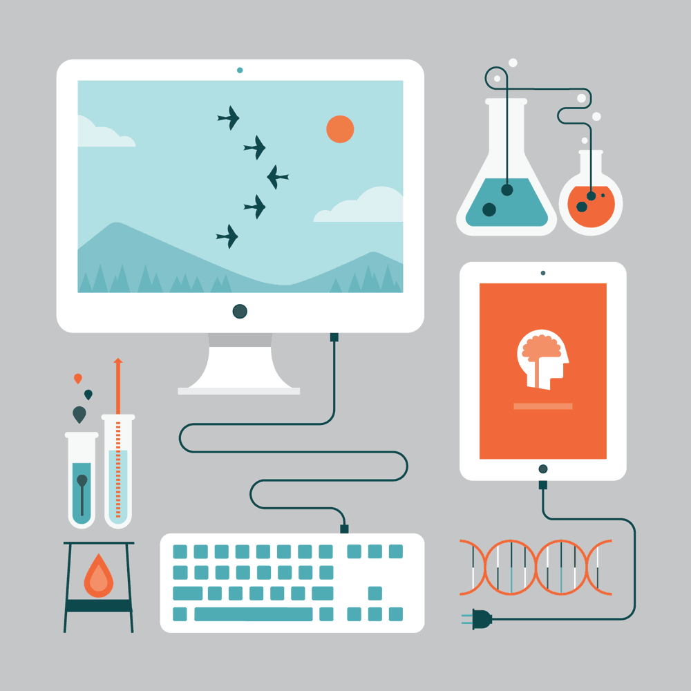 Lumosity Science Illustration - Julie West